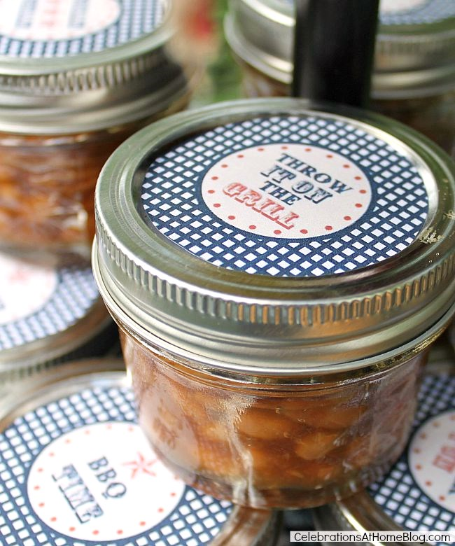 9 simple ideas to dress up food for entertaining - use mini jars for serving side dishes.