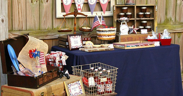 4th Of July Party Ideas with Vintage Style