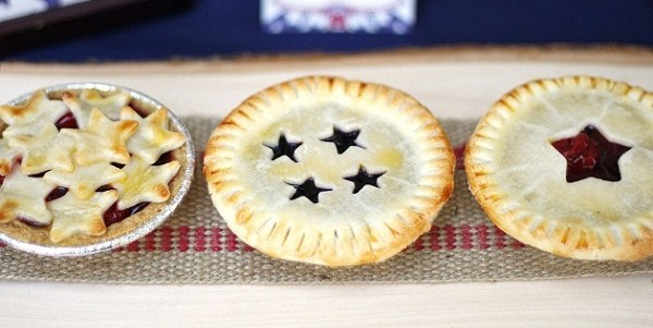 4th of July Dessert - Mini Fruit Pies with Star Cutouts