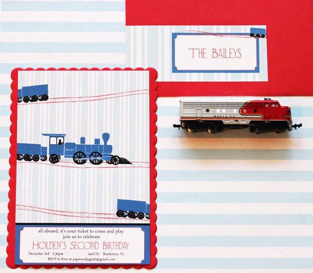 Train Themed Birthday Party guest feature Celebrations at Home