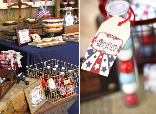4th of July party ideas - candy party favors