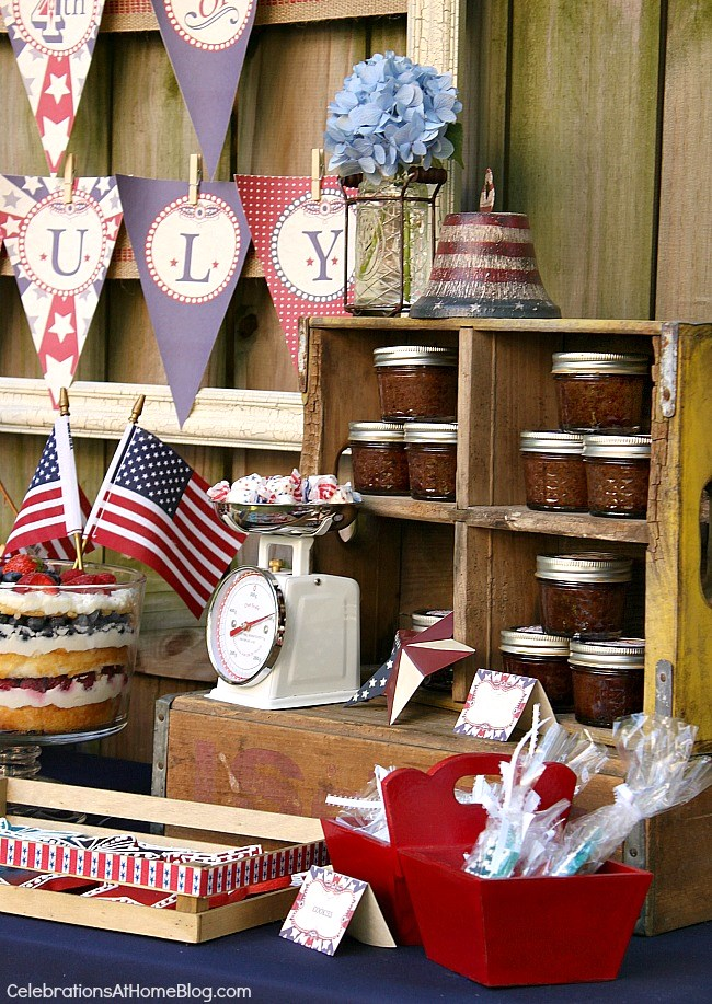 4th of July party ideas with classic Americana style.