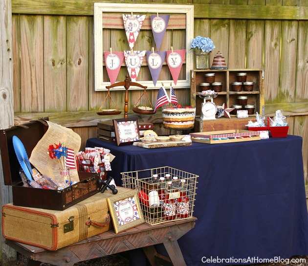 4th of July party ideas table decor