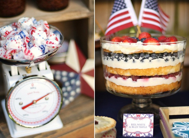 4th of July party ideas - food display