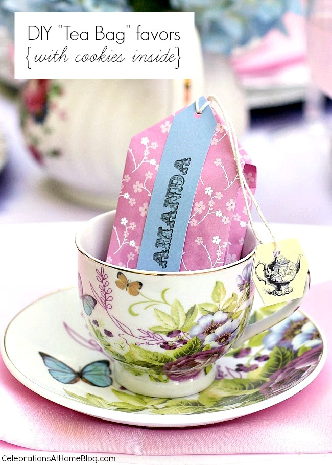 These Diy Tea Party Favors Are Unique And So Cute They Hold Cookies Inside