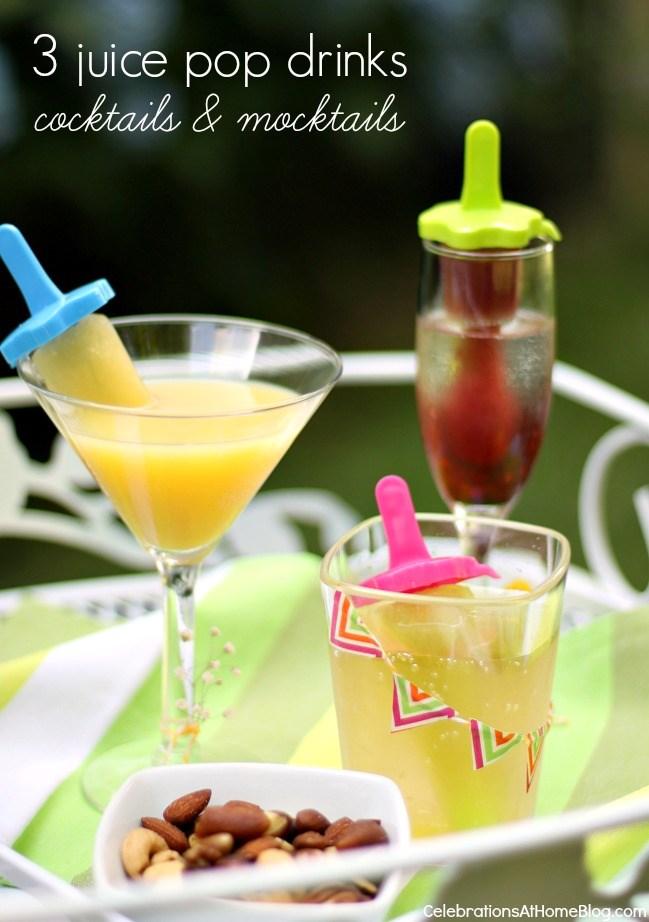 juice pop cocktails and mocktails