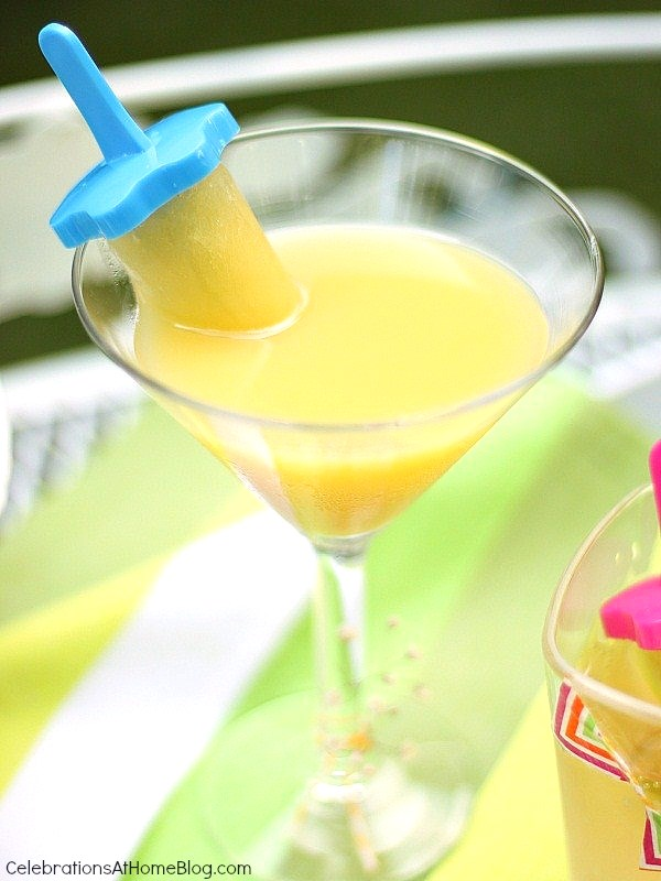 rum and juice pop cocktail