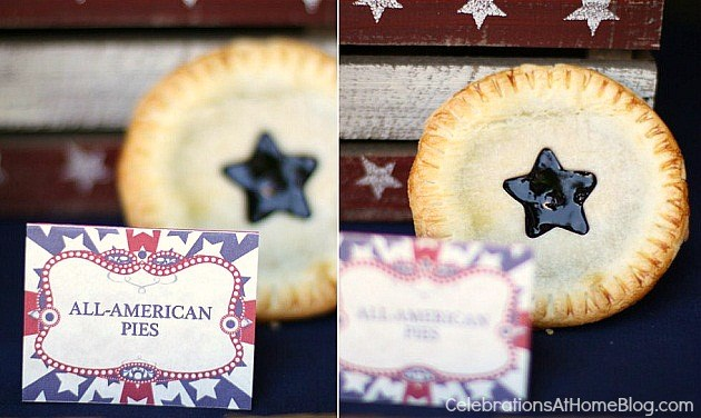4th of July party ideas and printable place cards