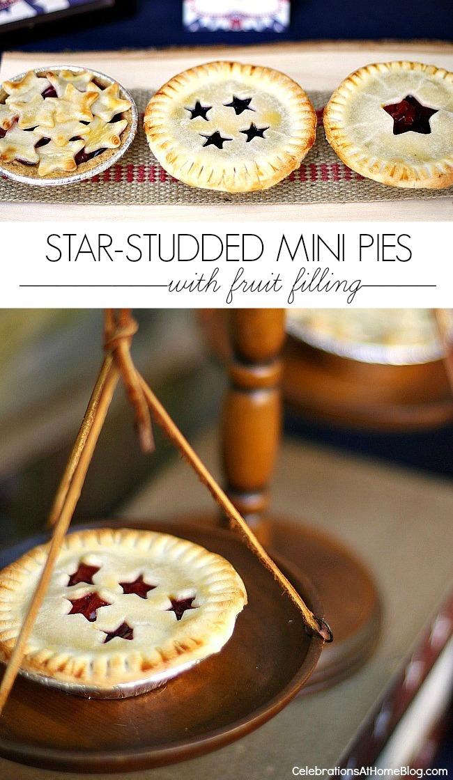 4th of July dessert, mini fruit pies