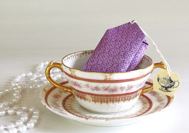 DIY Tea Party Favors: Tea Bag Cookie Packs