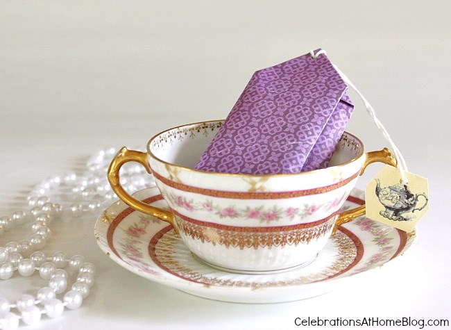 diy tea party favors cookie packs