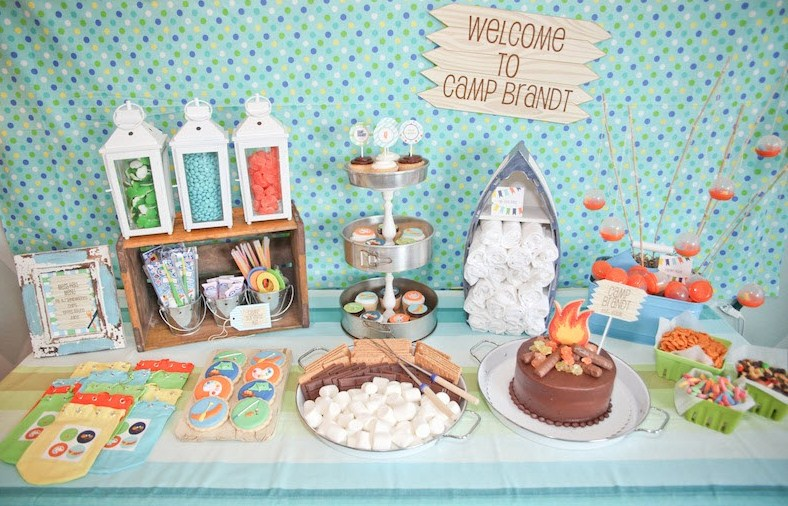 "Camping Summer Camp Theme ""summer Camp"" Themed Party"