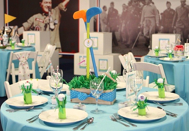 Preppy Golf Themed Baby Shower Operation