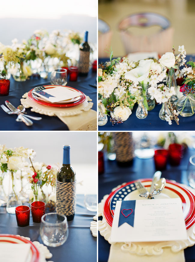 Red, White, & Blue Tabletop {Guest Feature} - Celebrations at Home