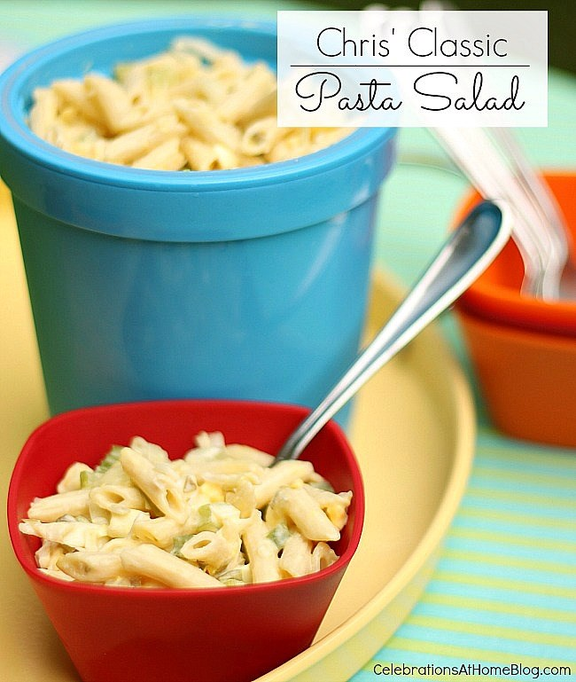 You'll love the creaminess and delicious flavors in this classic pasta salad.
