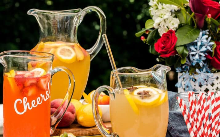 3 pitchers of flavored lemonade recipes