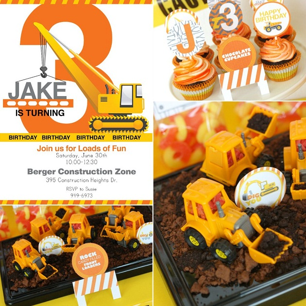 "Construction Birthday Party Food Ideas: ""I Dig You"" Construction Party {Guest Feature"