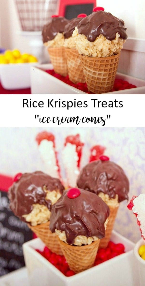rice krispies treats ice cream cones