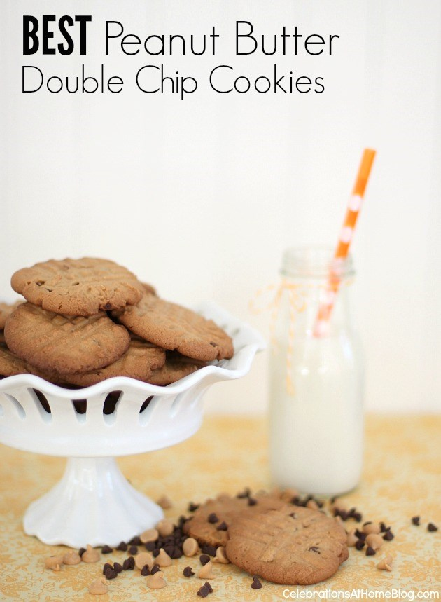 the best peanut butter double chip cookies recipe