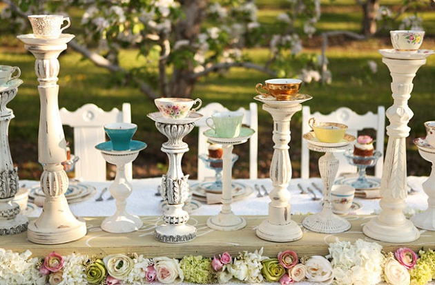 Inspired By This – Tea Cup Centerpiece