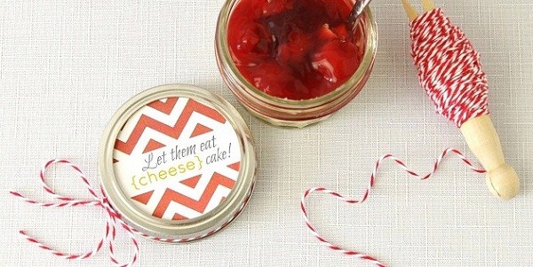 Cheesecake In A Jar With Printable Tag