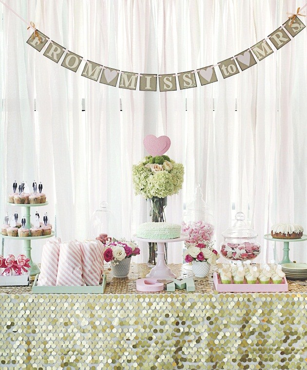 Bridal Shower With A Touch Of Glam {Guest Feature