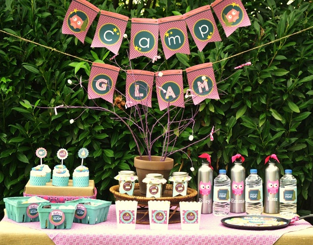 Girly Glam Camping Party Celebrations At Home