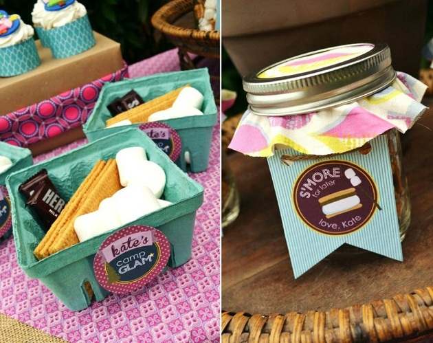 Girly Glam Camping Party