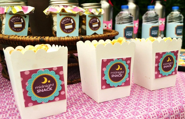 Fall Party Centerpiece Ideas : Girly glam camping party guest feature celebrations at