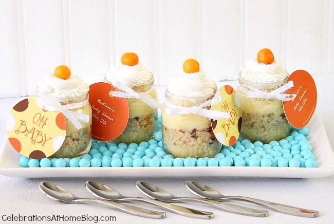 baby shower dessert parfaits