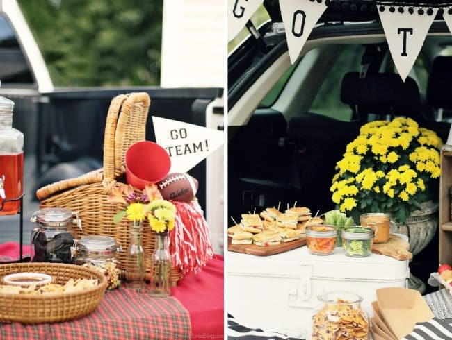 football party ideas & recipes tailgating