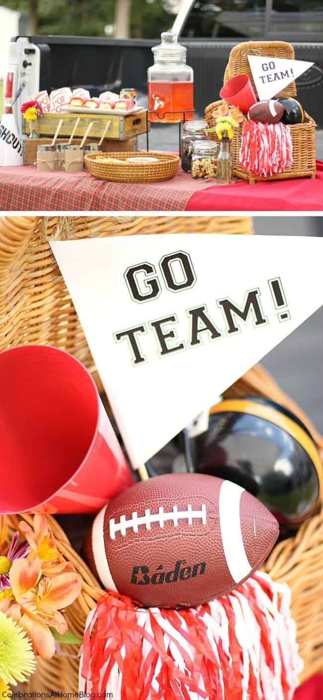 Set up a tailgate party for the big game with these ideas for food and decor.