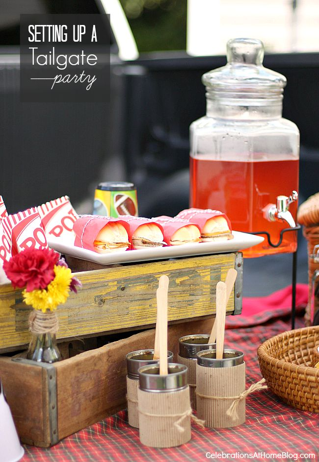 Setting up a tailgate party is fun and easy with these ideas.