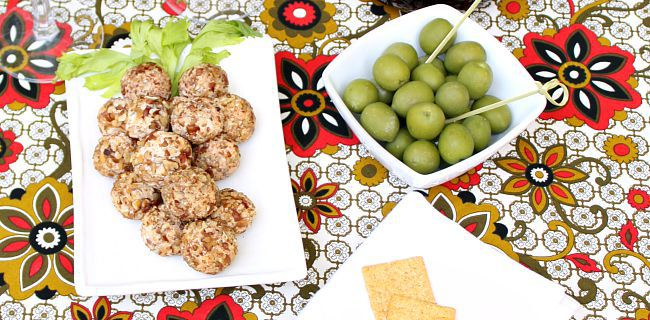 "Cheese Ball Recipe: ""Grape Cluster"" Cheese Truffles"