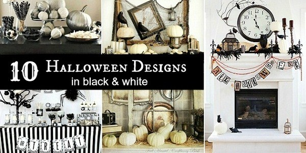 10 black and white halloween decorating ideas celebrations at home - Black And White Halloween Decor
