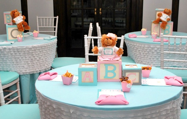 Pink and blue baby shower guest feature celebrations at home - Home made baby shower decorations ...