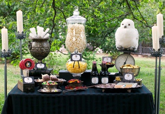 Witches wizards themed party ideas guest feature for Adult party decoration ideas