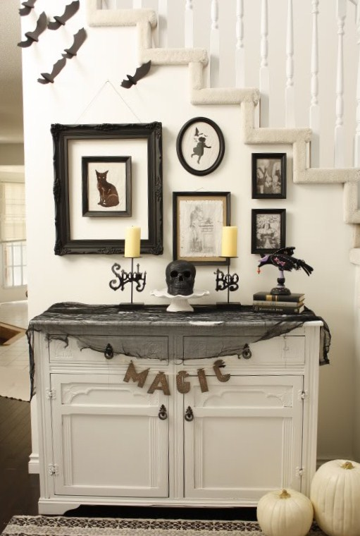 when decorating - Black And White Halloween Decor