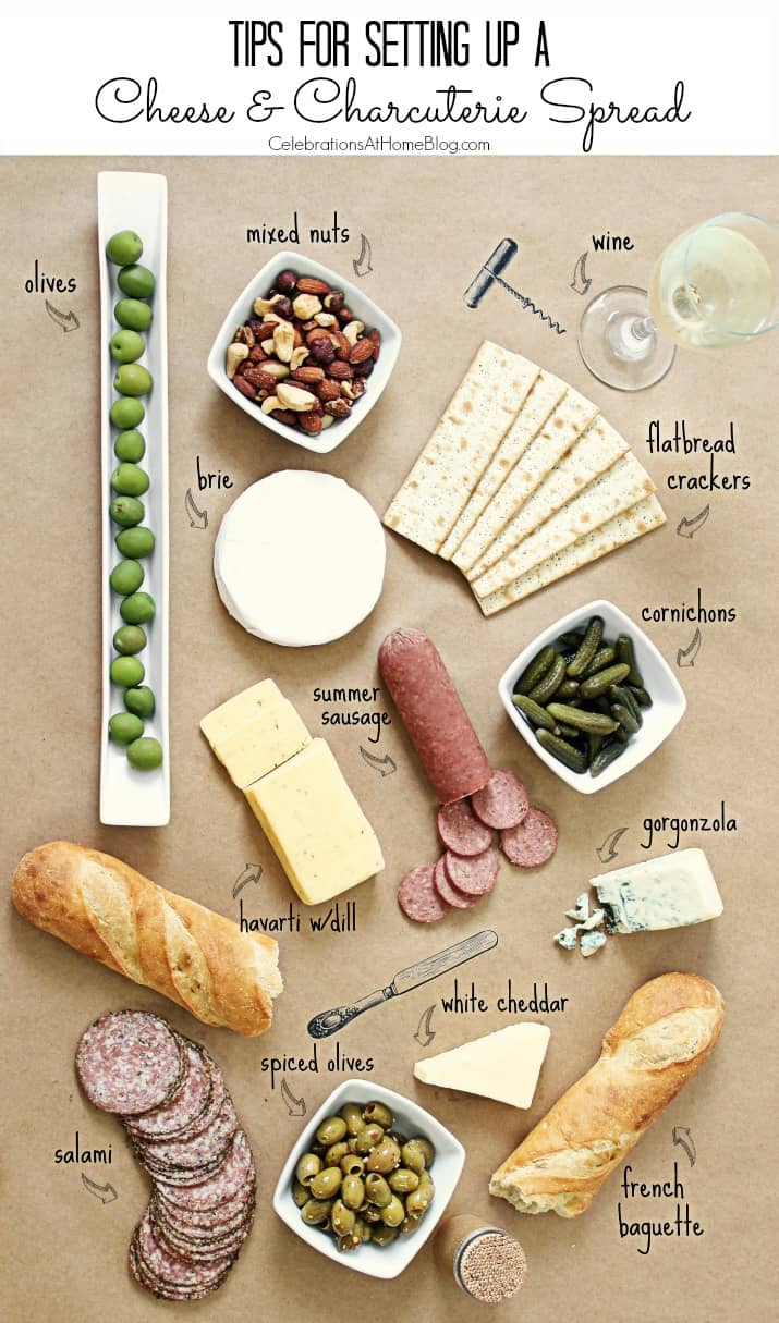 cheese and charcuterie layout