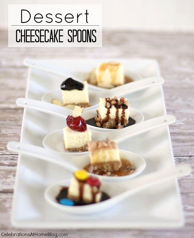 dessert cheesecake spoons