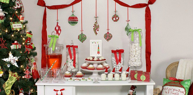Traditional Red & Green Family Friendly Christmas Party Ideas