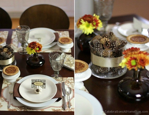 Thanksgiving tablescape ideas celebrations at home for Elegant table setting for thanksgiving