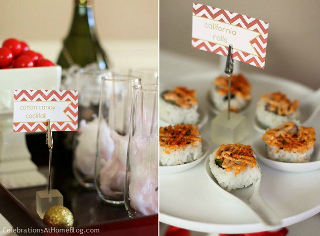 Holiday entertaining - cocktails and appetizer party.
