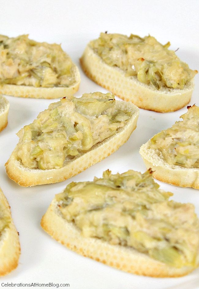 Easy appetizer - chicken artichoke canapes