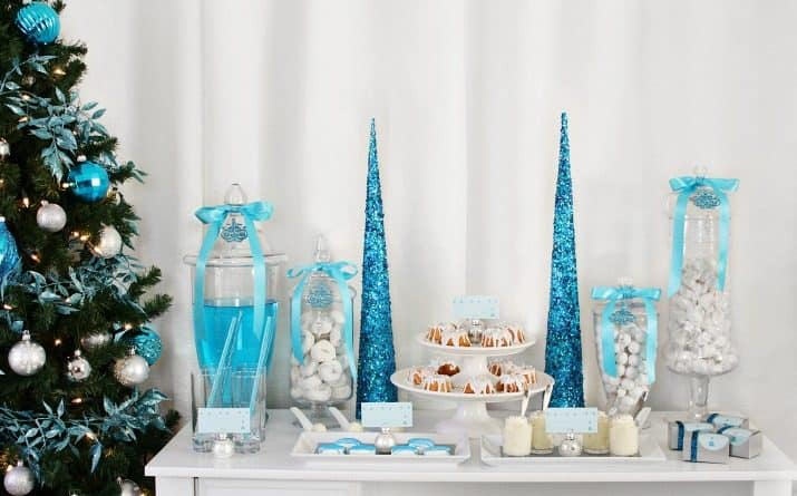 An Elegant Blue & White Holiday Dessert Party & Tips