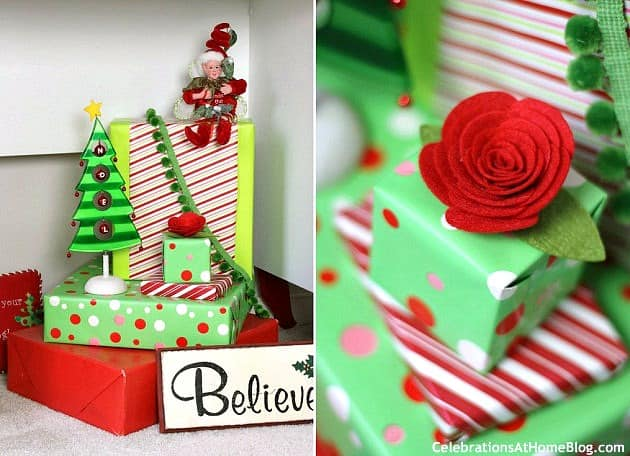 These family friendly Christmas party ideas are full of whimsical touches done in classic red and green. Includes a sweet dessert table for all.