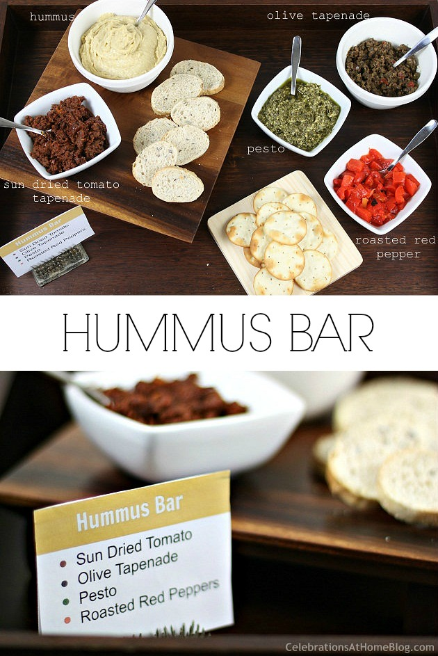 Set up a hummus bar for easy entertaining + my classic hummus recipe