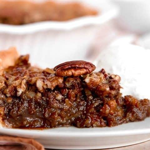 kahlua pecan pie recipe card