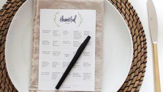 printable thankful bingo