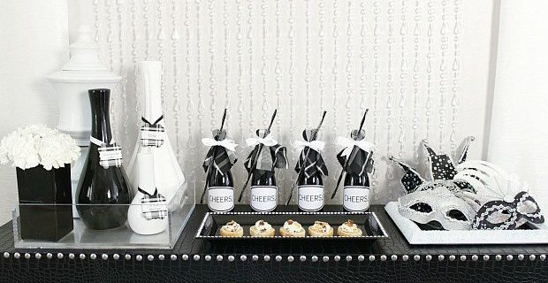 Black & White Dinner Party Ideas
